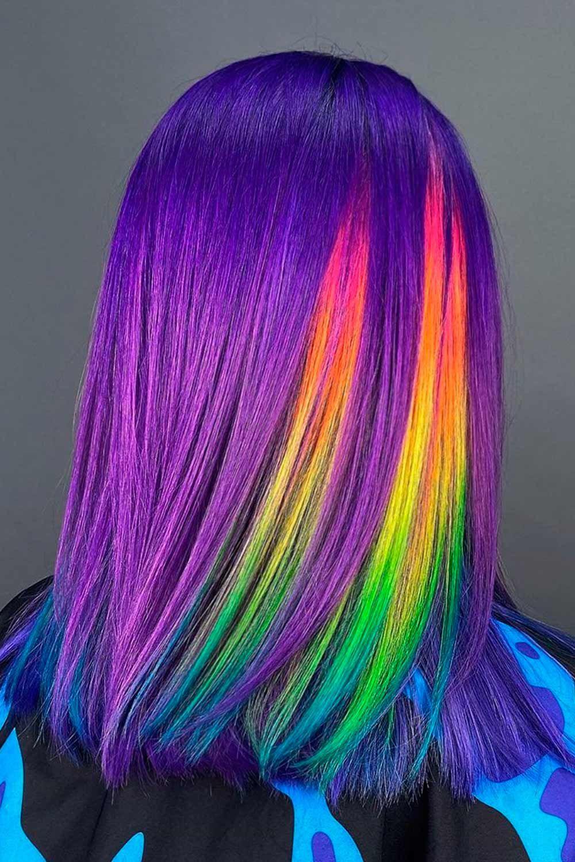 Peekaboo Purple Neon