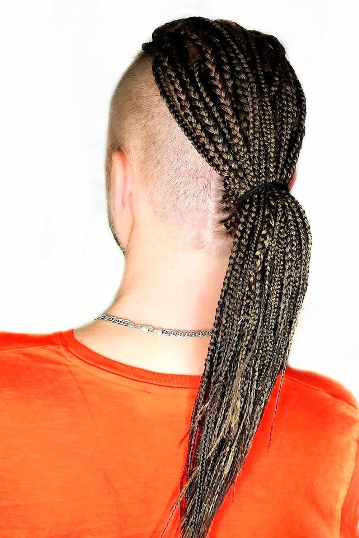 Single braids men