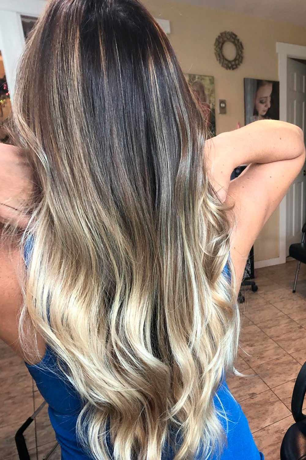 Blonde Ombre On Brown Hair Colors