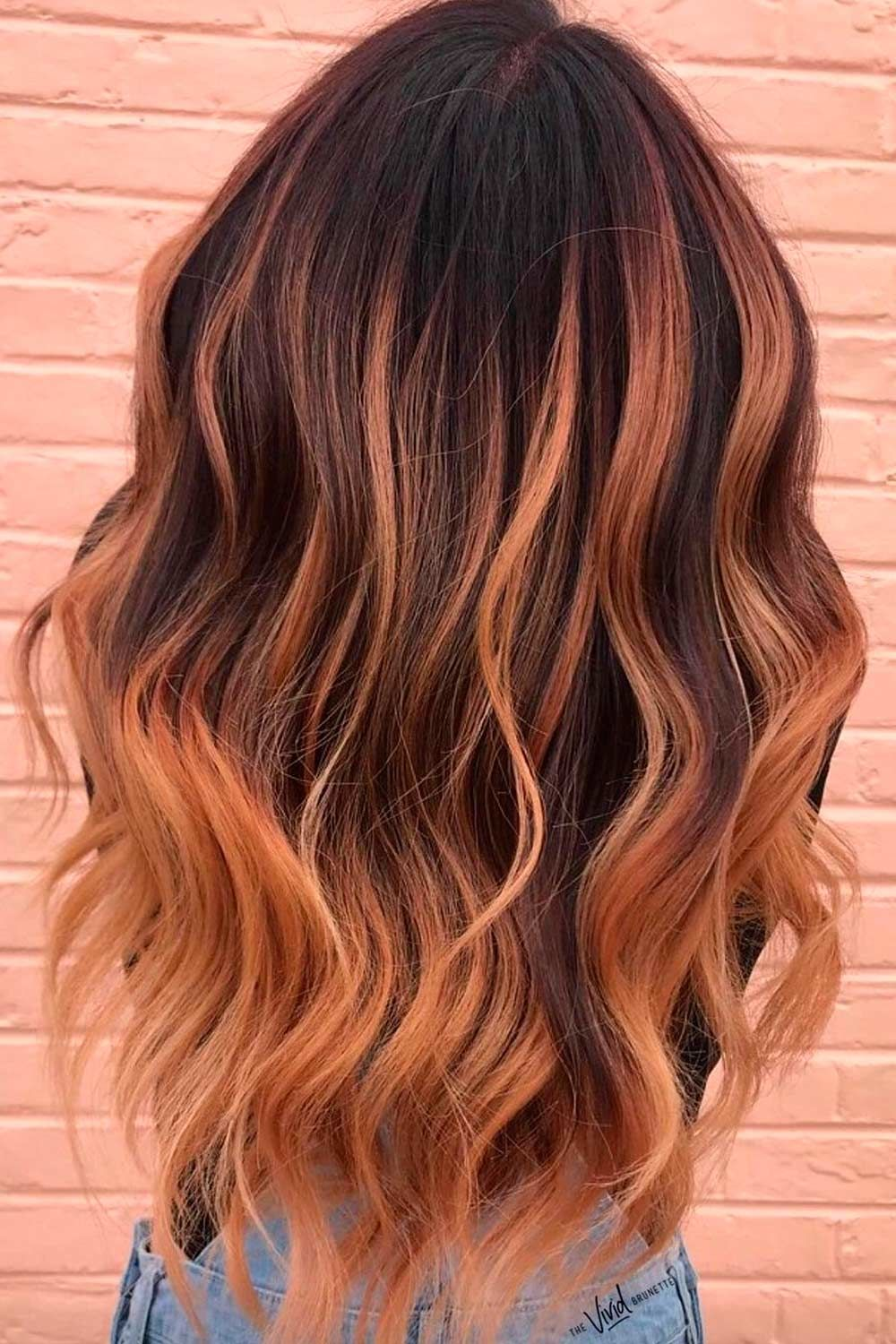 Glory Dark Brown Hair With Copper