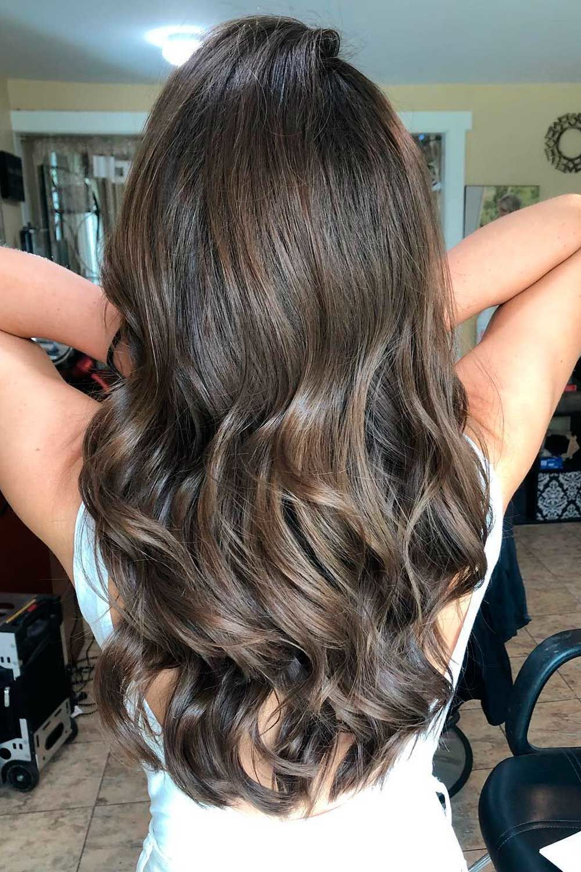 Smokey Dark Brown Hair