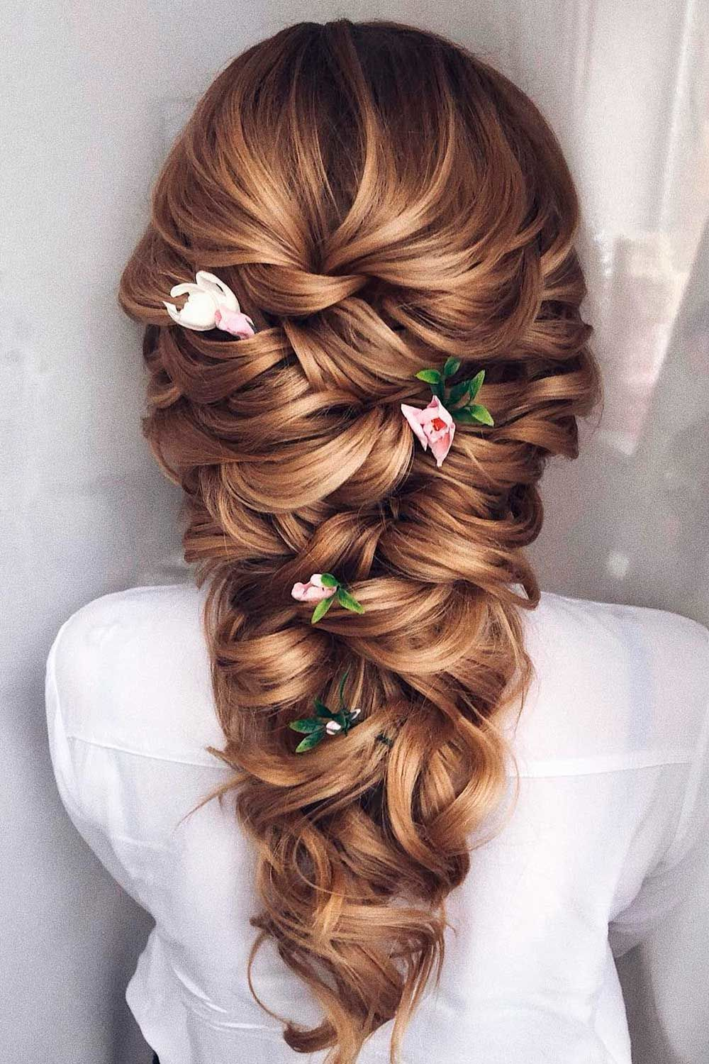Hairstyles For Long Hair With Braids and Flowers
