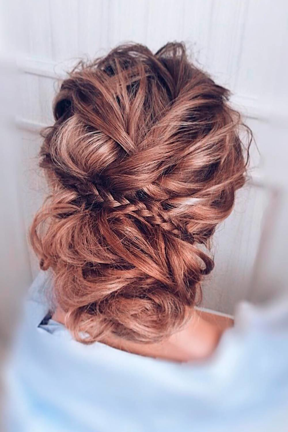 Low Updo Hairstyle For Long Hair