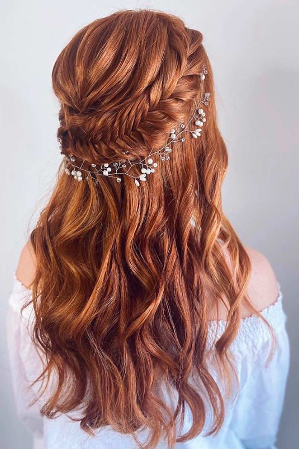 Half Up with Braid For Formal Hair