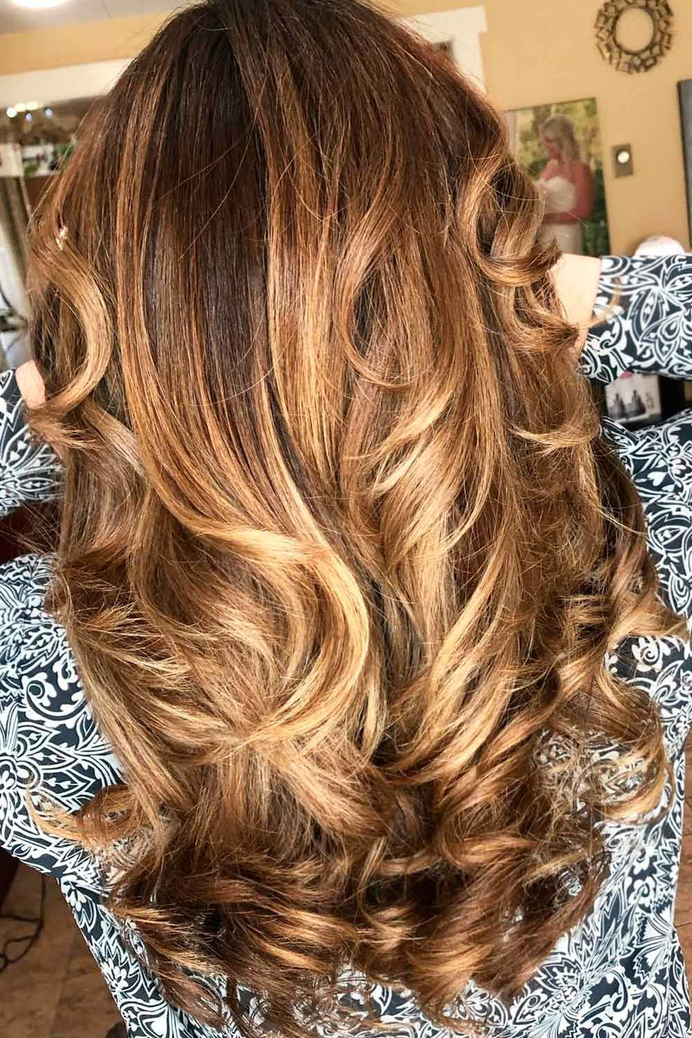 Golden Brown Partial Highlights Hair Colors