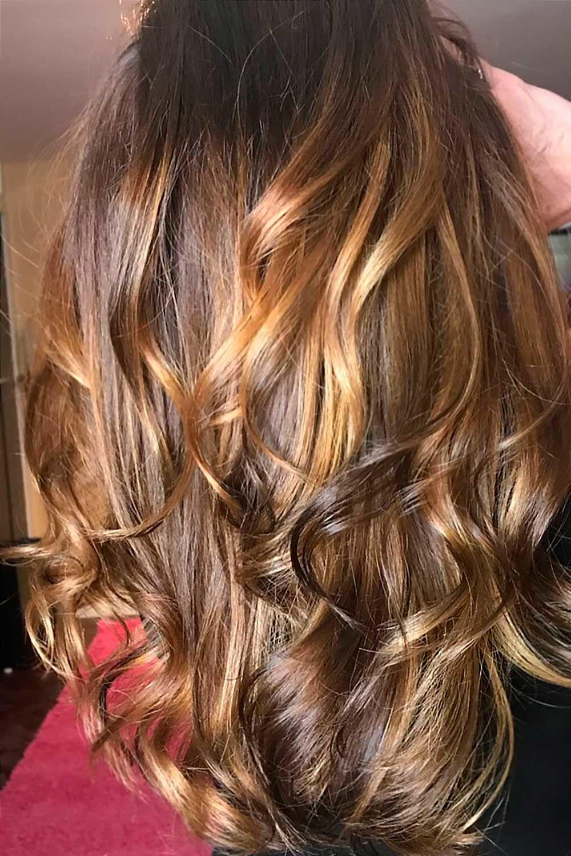 Dark, Warm & Gold Hair Color