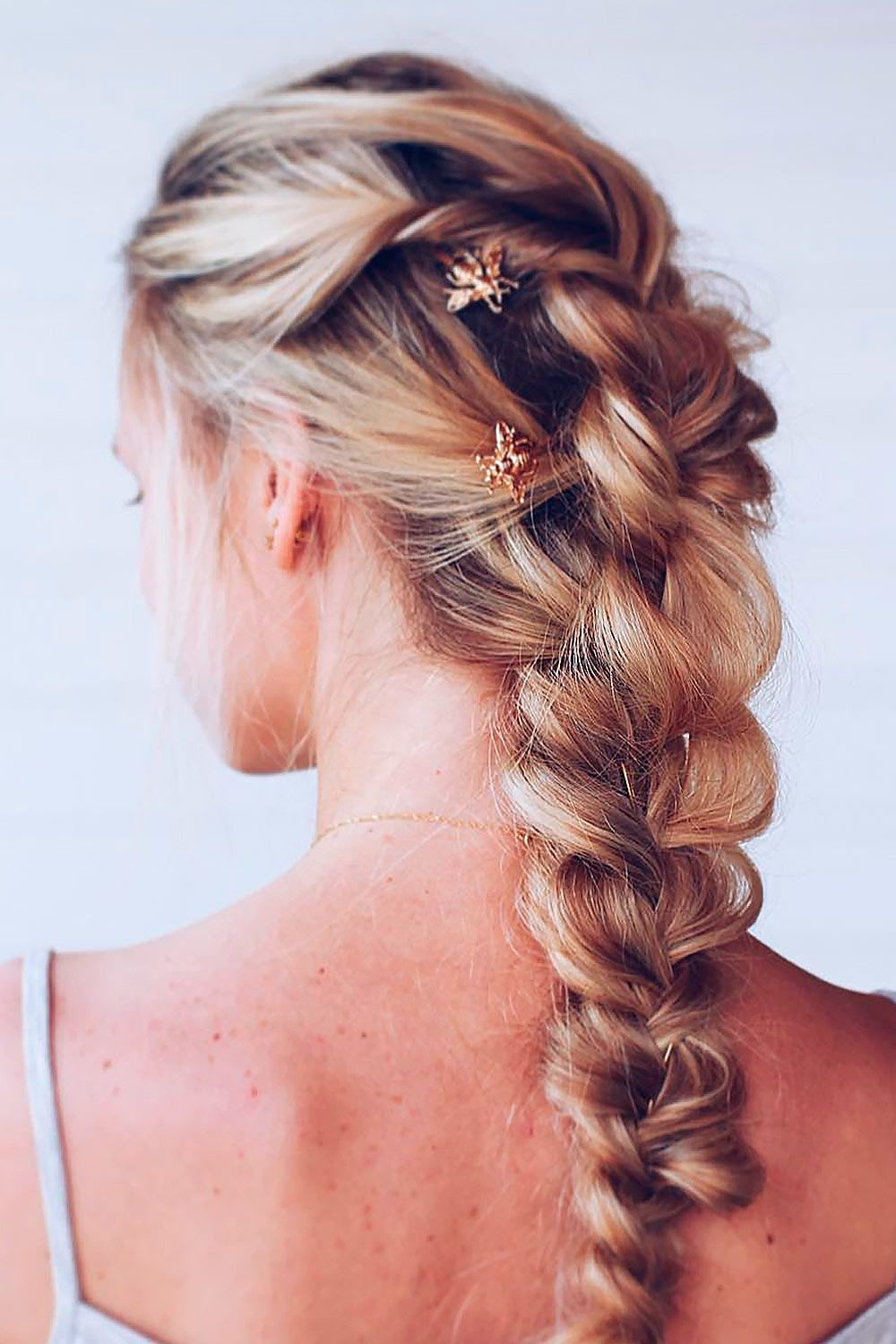 Hippie Hairstyles With Long French Messy Braid