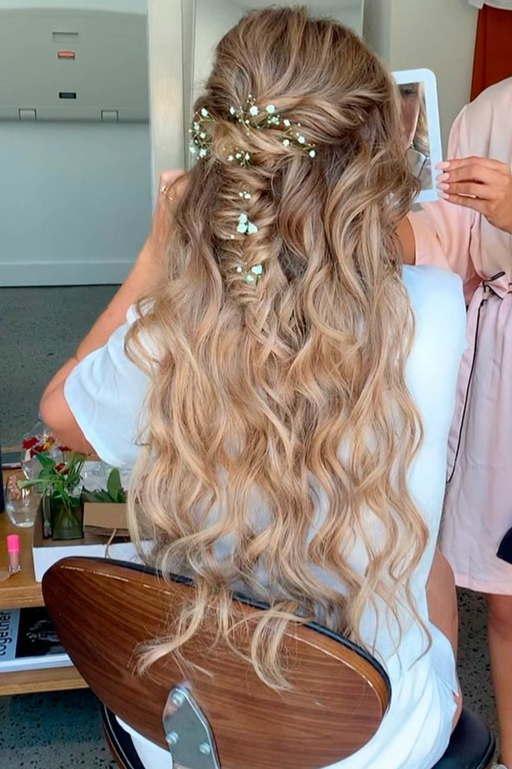 Twisted Half-Up Into Braid
