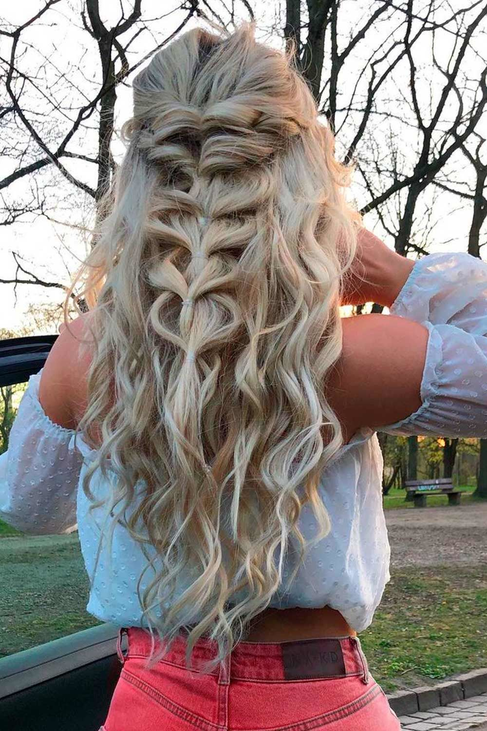 French Half-Up Braid