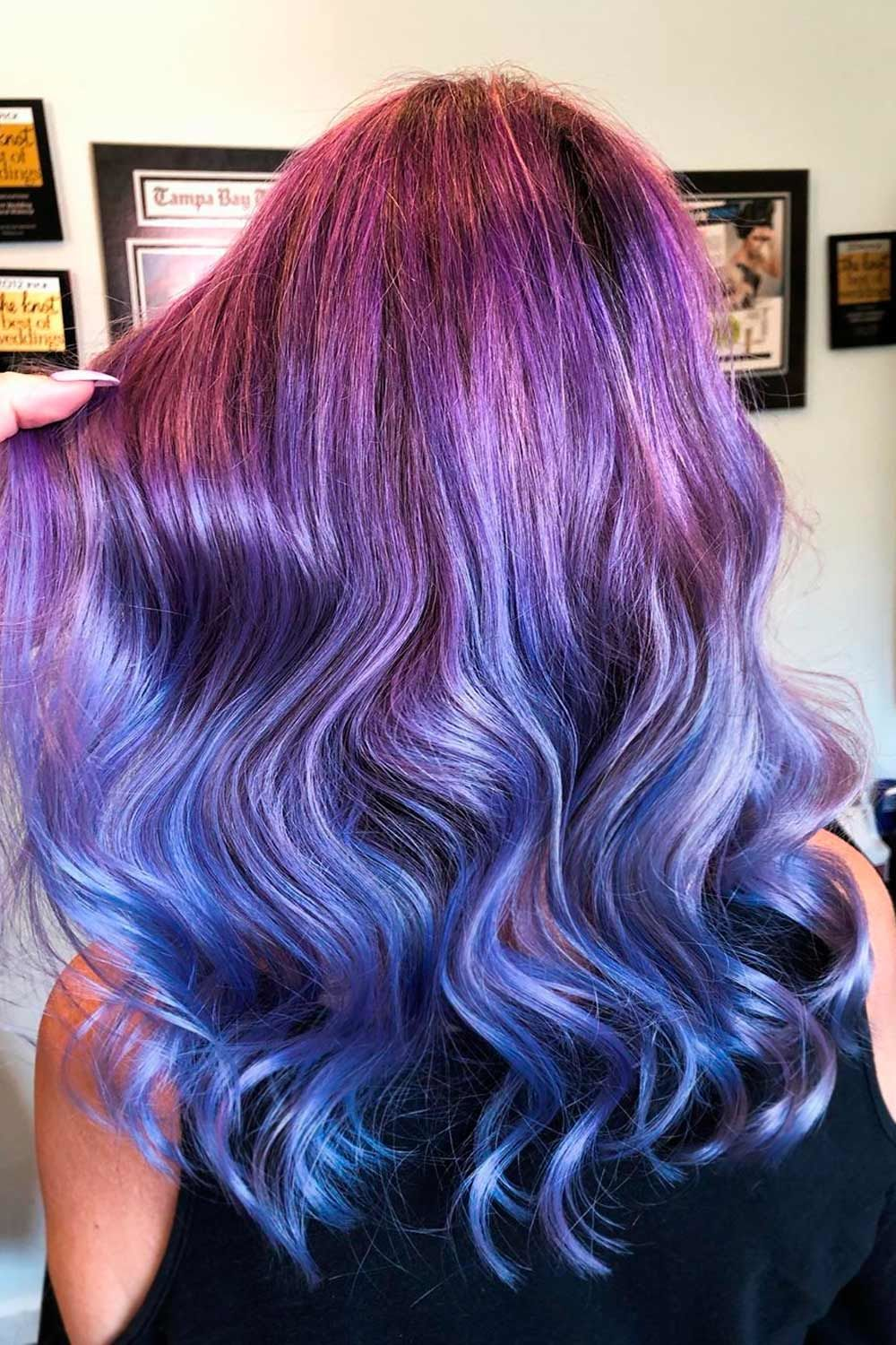 Purple With Ashy Blue Ends