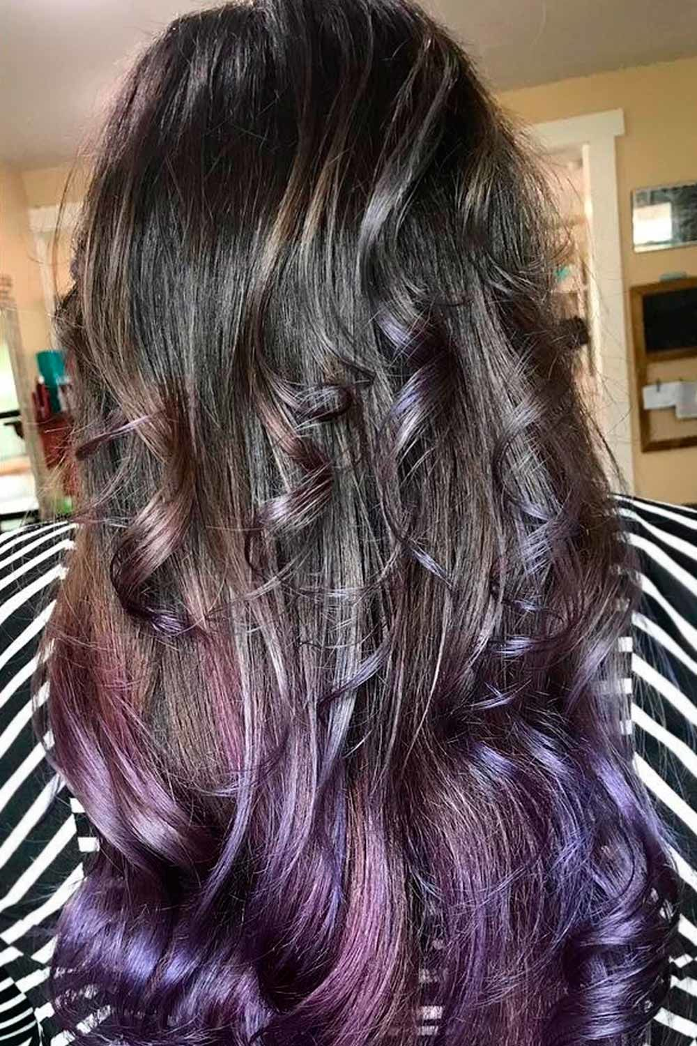 Black To Purple Hair Ombre