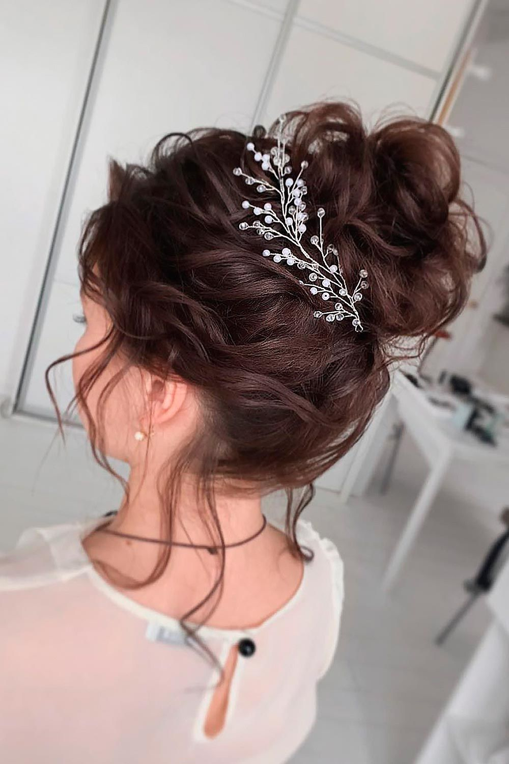High Textured Updo For Your Big Day