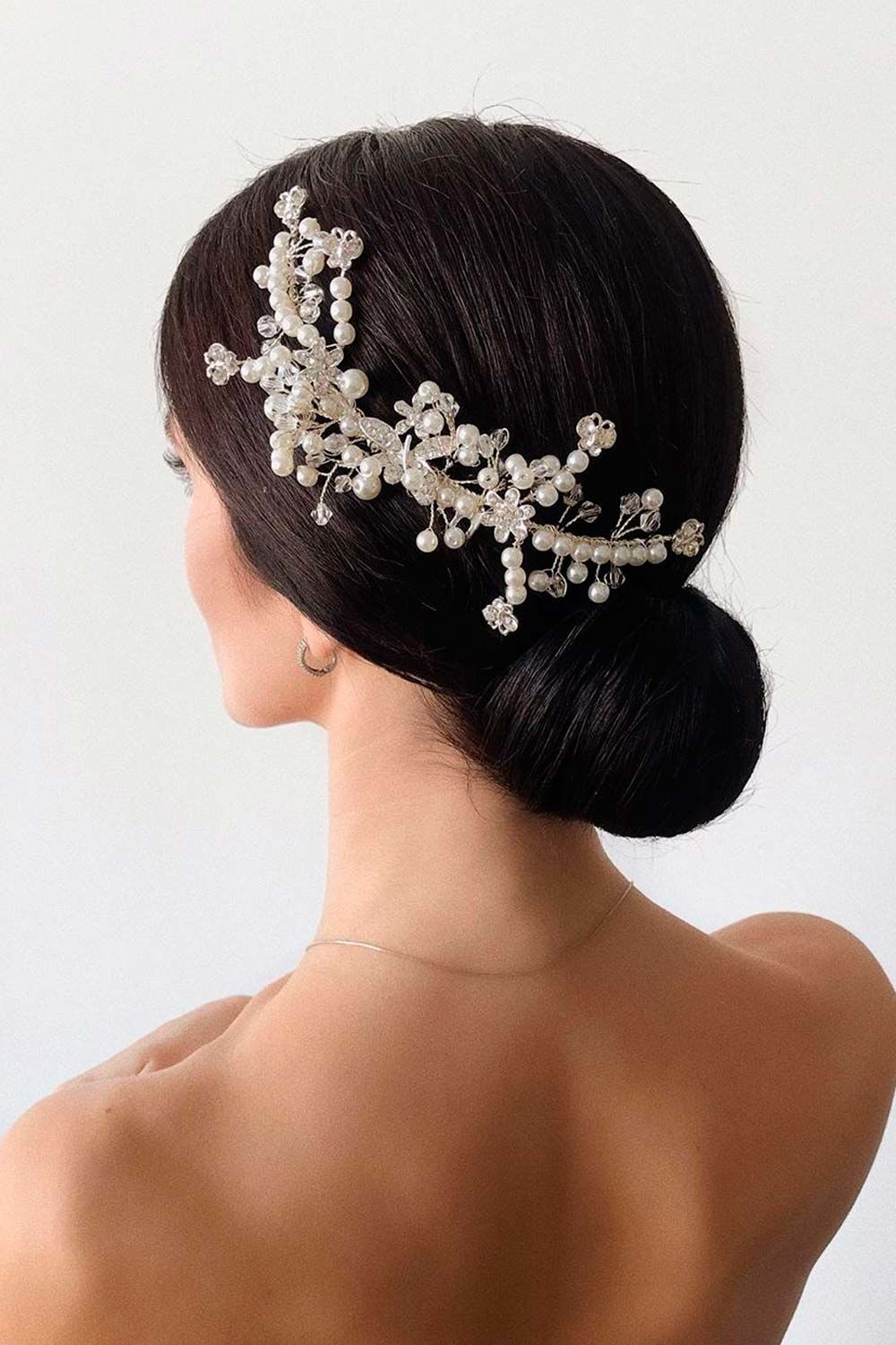 Wedding Updo With Pearls