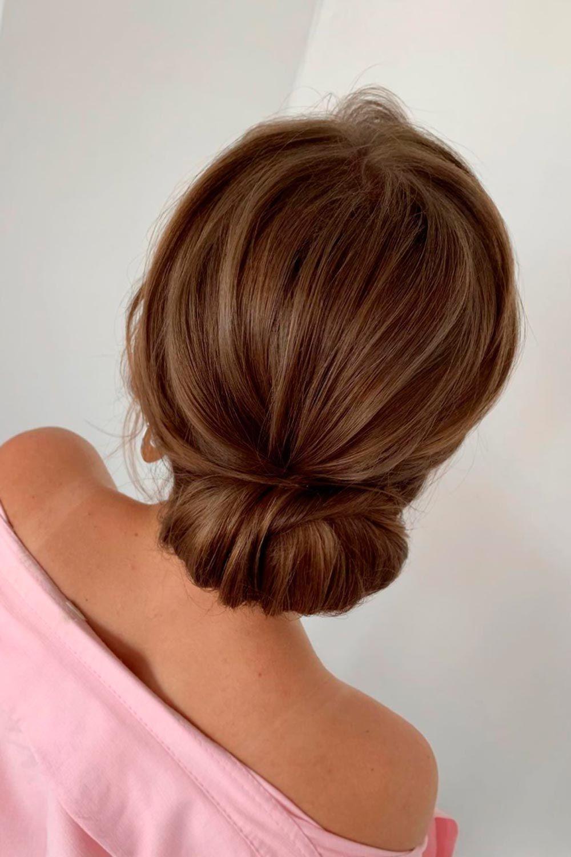 Elegant Swept Back Low Hairdos For Short Hair