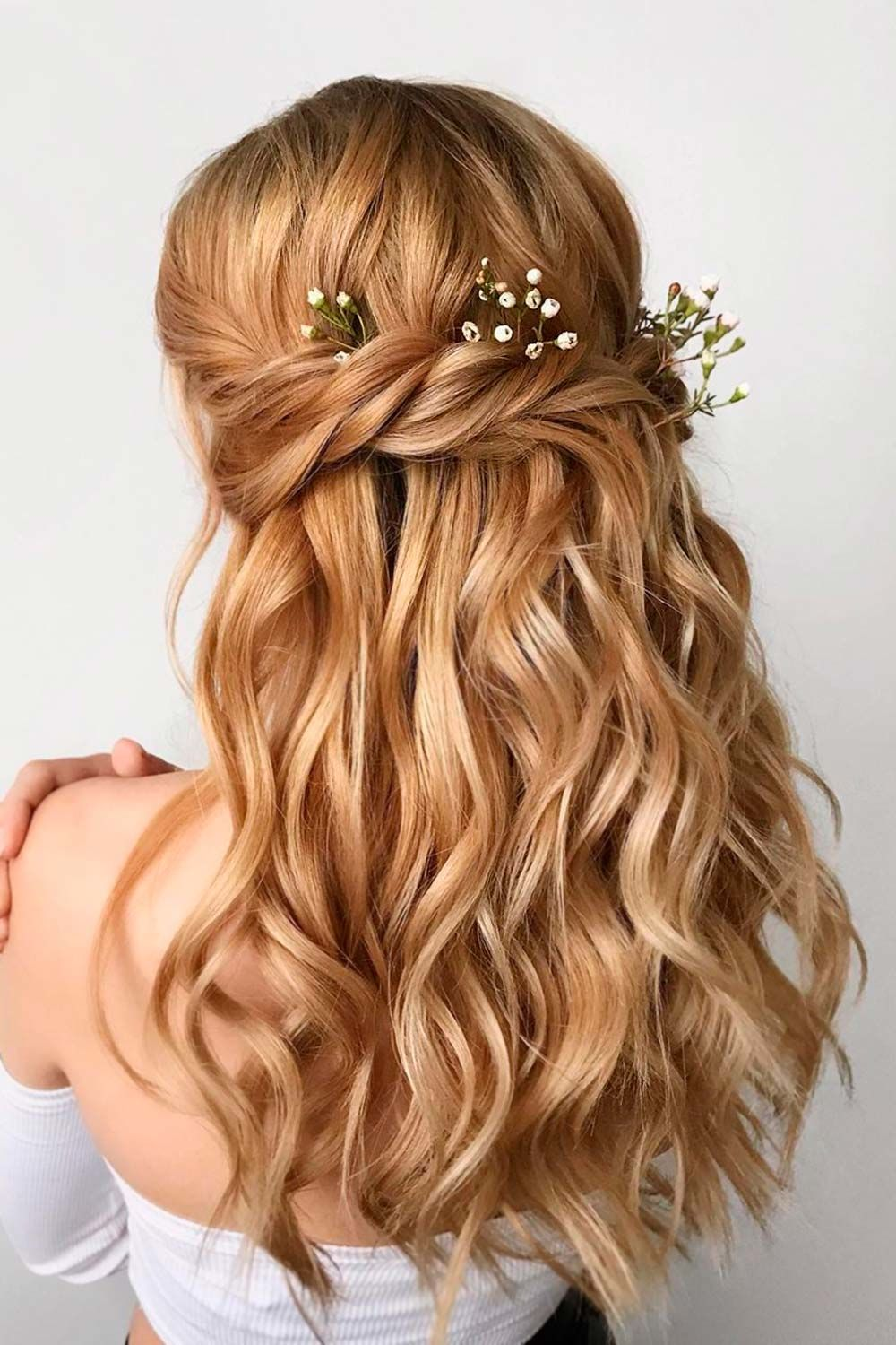Twisted Hairstyle With Accessories