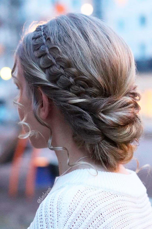 French Headband Braid Updo