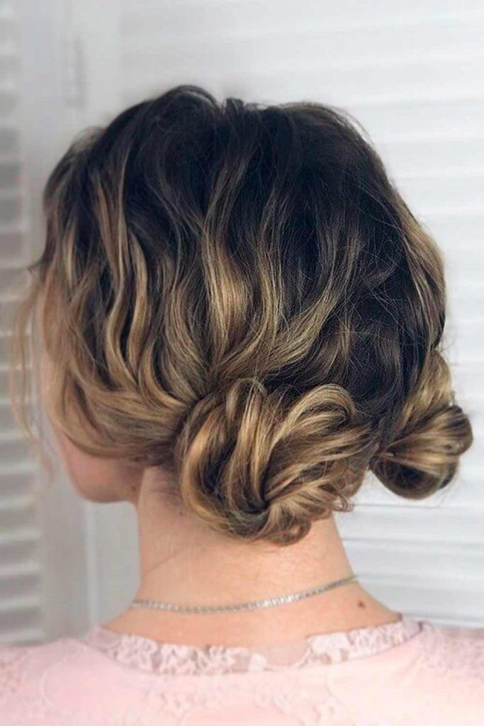 Double Buns Updo, haircut for thin hair and diamond shaped face, short haircut for diamond shaped face, good haircut for diamond shaped face