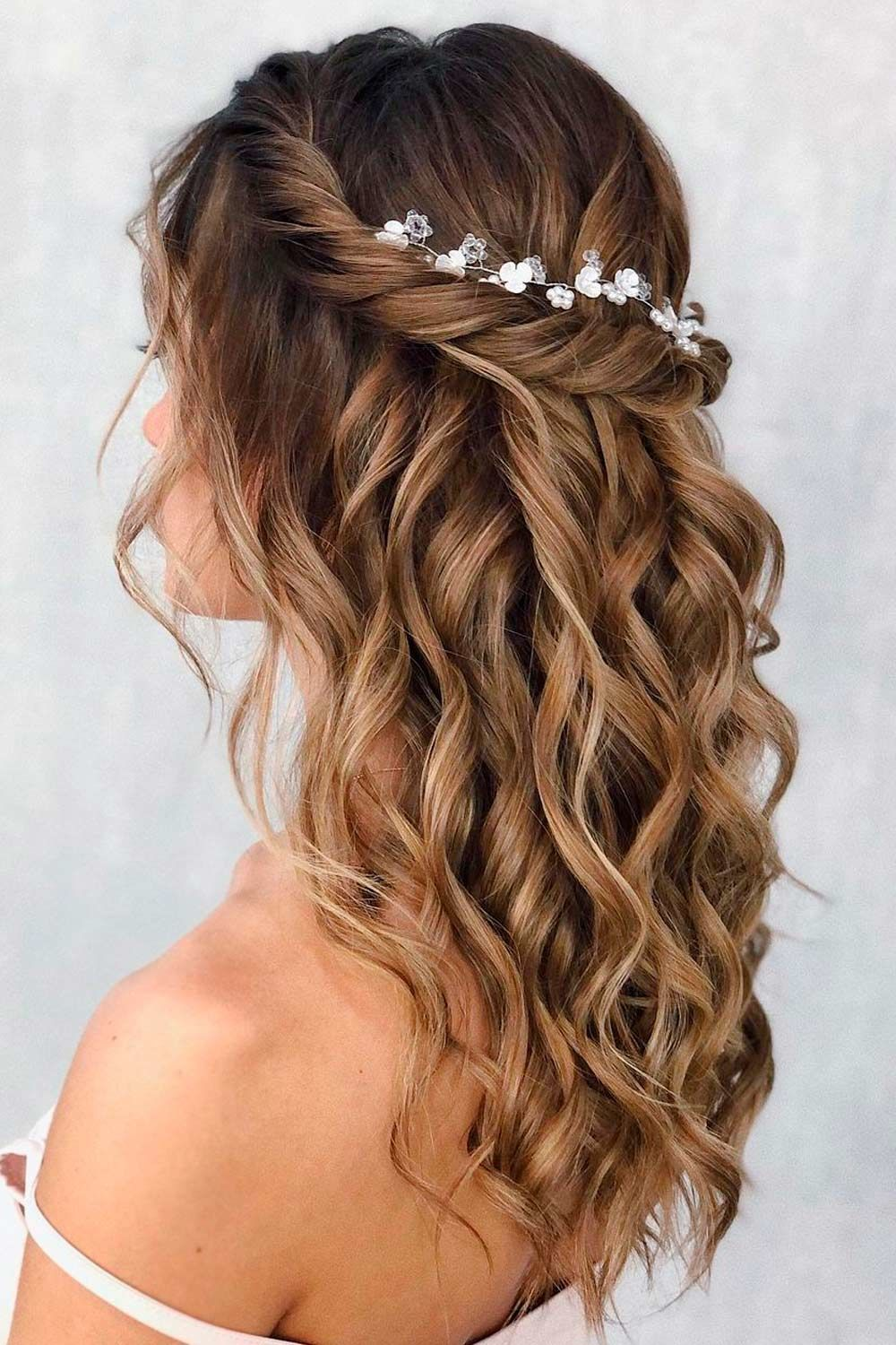Half Up Updo For Wavy Hair