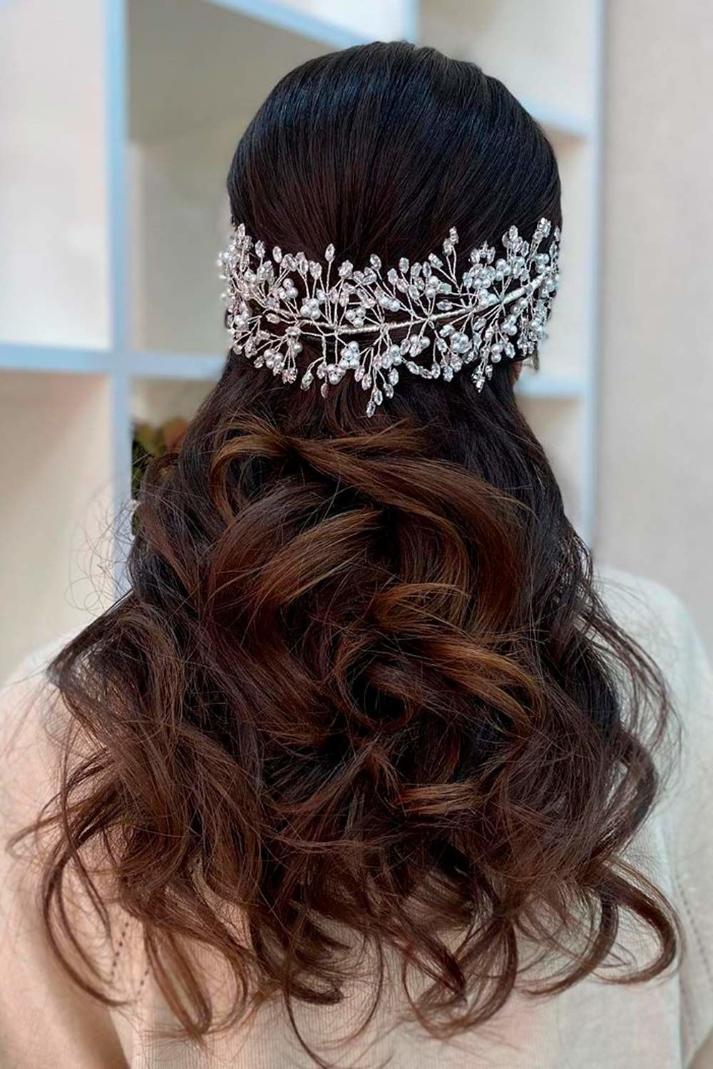 Accessorized Half Up Hairstyles For Long Hair