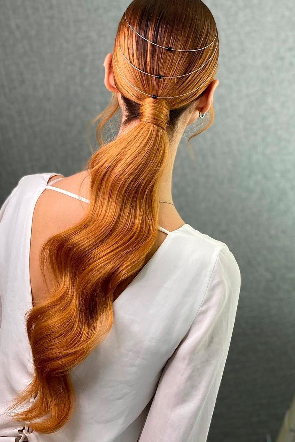 Accessorized Party Style For Wavy Hair