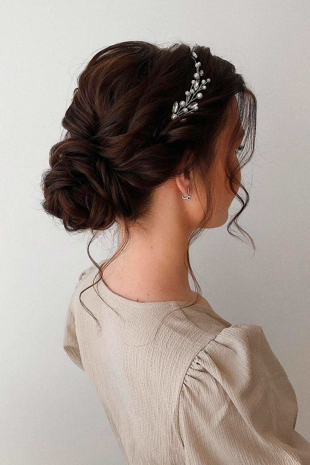 Low Updo Hairstyles For Wavy Hair