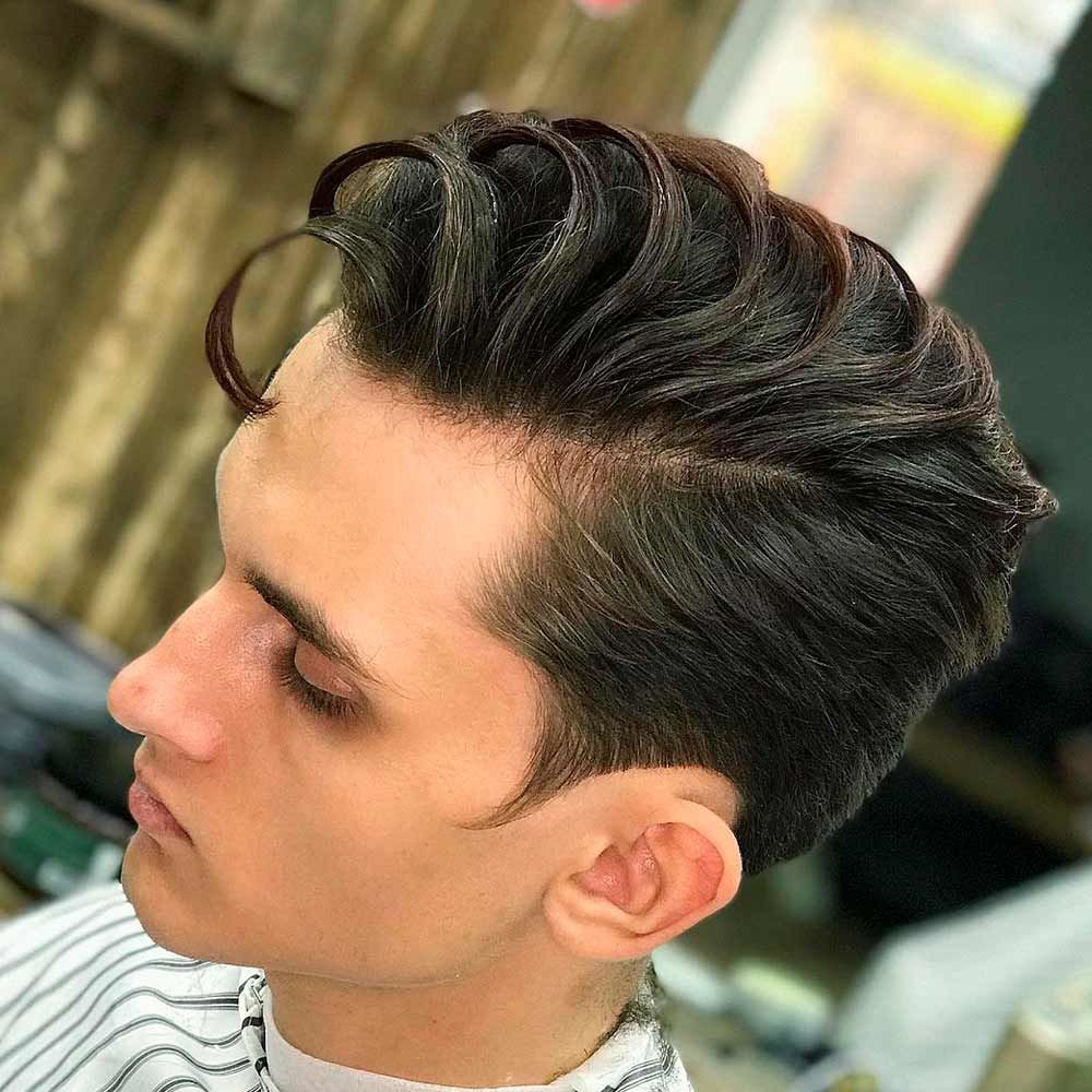 Side Part, curly hair cuts men, male curly hairstyles, men's curly hairstyles, curly hair styles for men, male curly hair