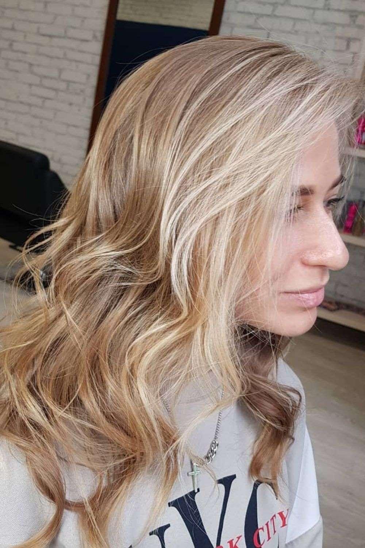 Face Framing Highlights Blonde Curls