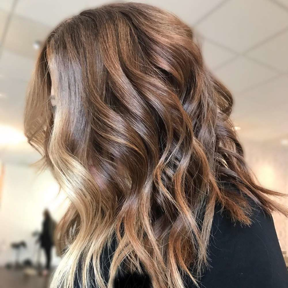 Face Framing Highlights Middle Sized Hair