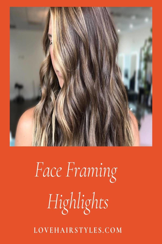 Face Framing Highlights Dark Hair