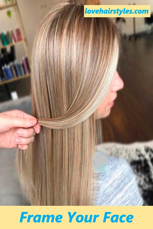 Face Framing Highlights Blonde Hair