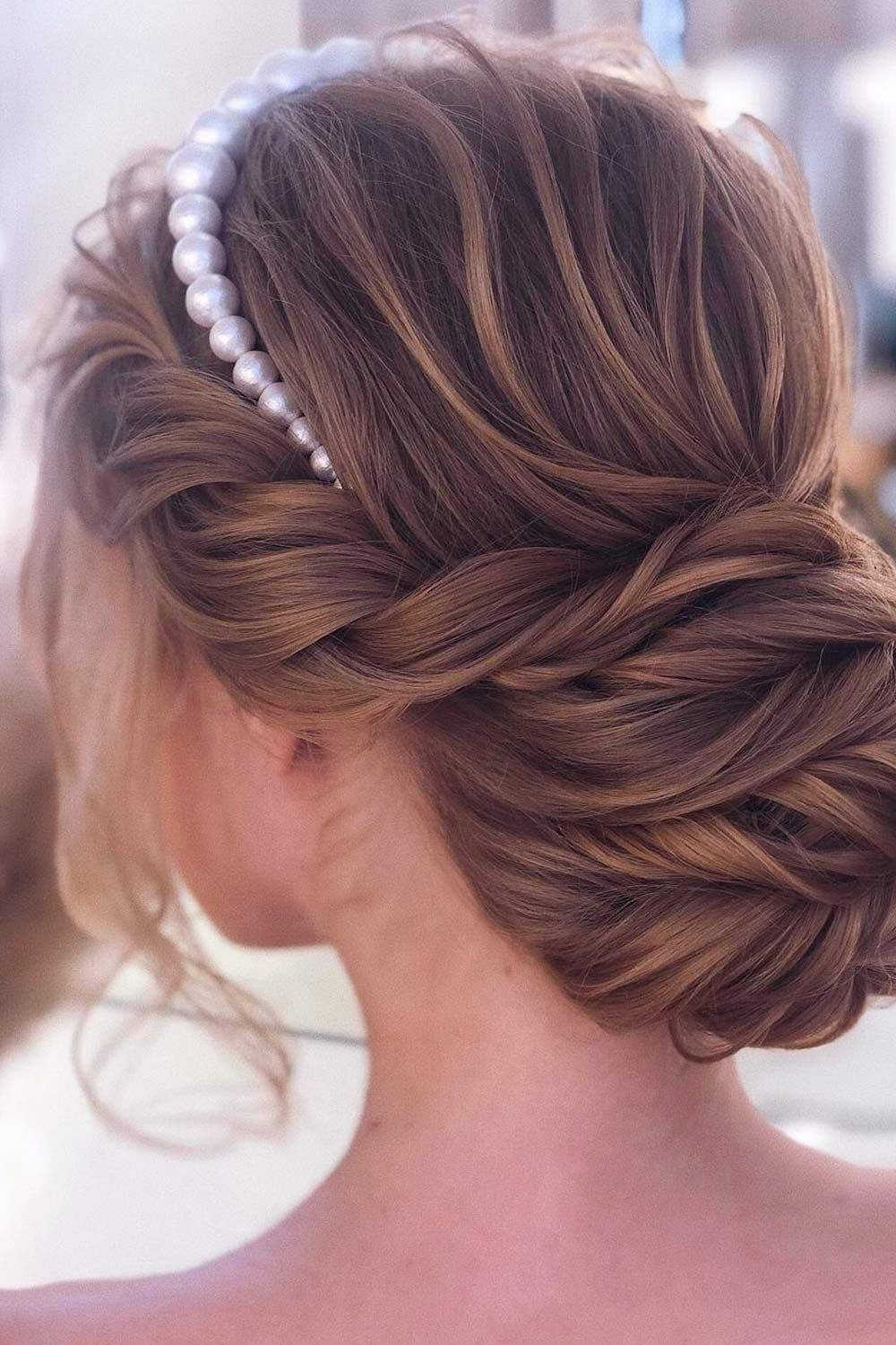Updo Styles With Pearl Headband