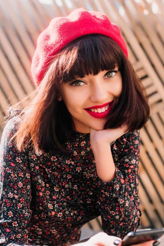 Small Red Beret, beret hair, how to wear a beret with short hair, beret looks