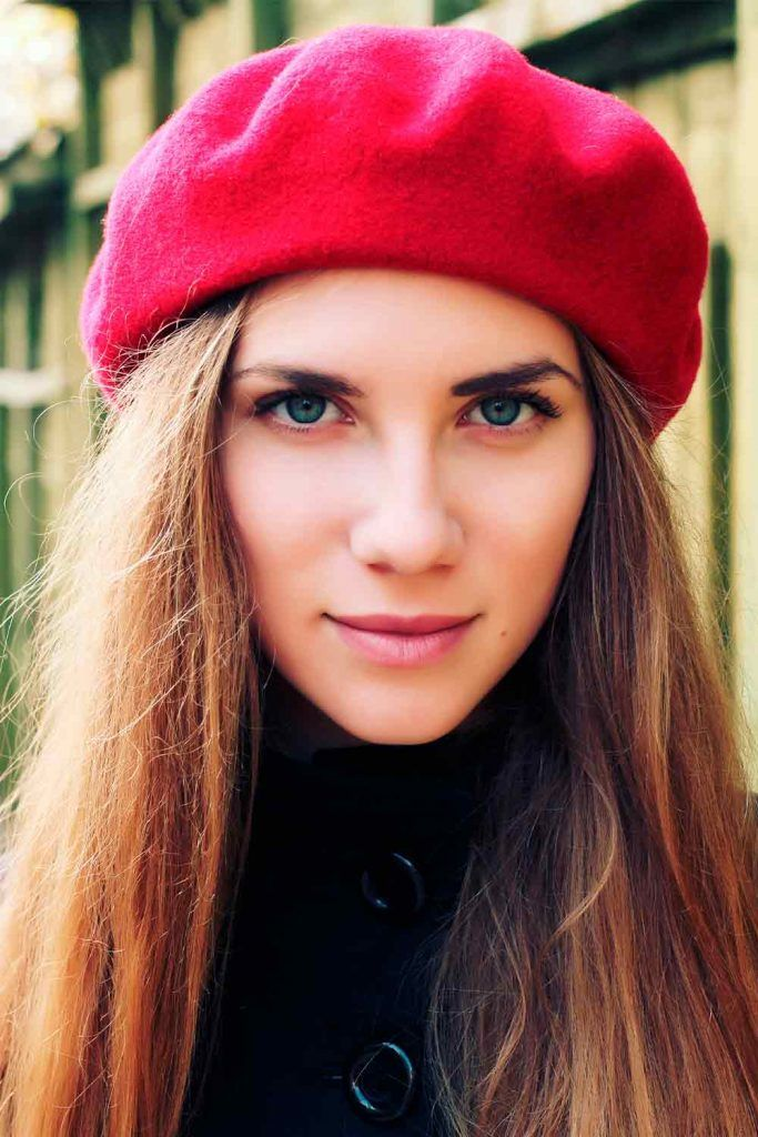 Traditional Berets beret hair, how to wear a beret hat with long hair, beret looks