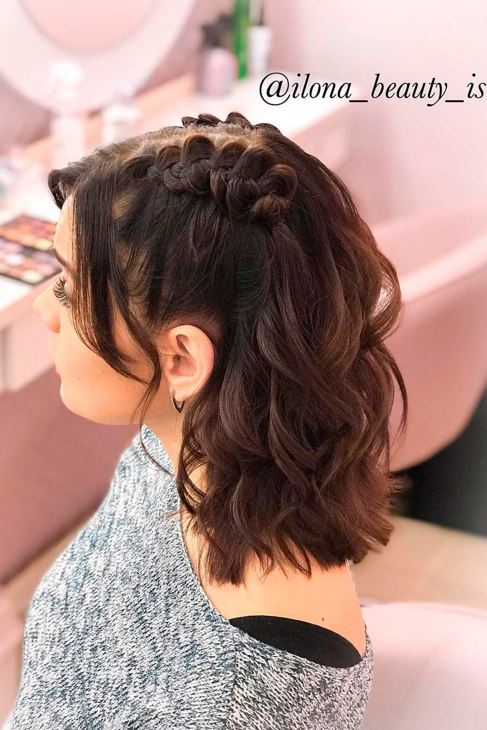 Half Up Hairstyles For Christmas Party
