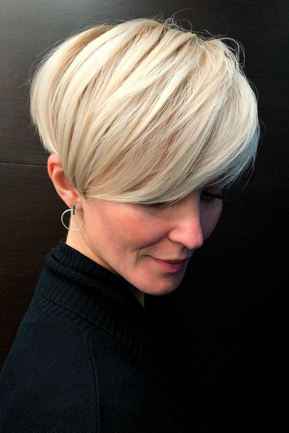 Long Pixie Haircut with Layered Hair