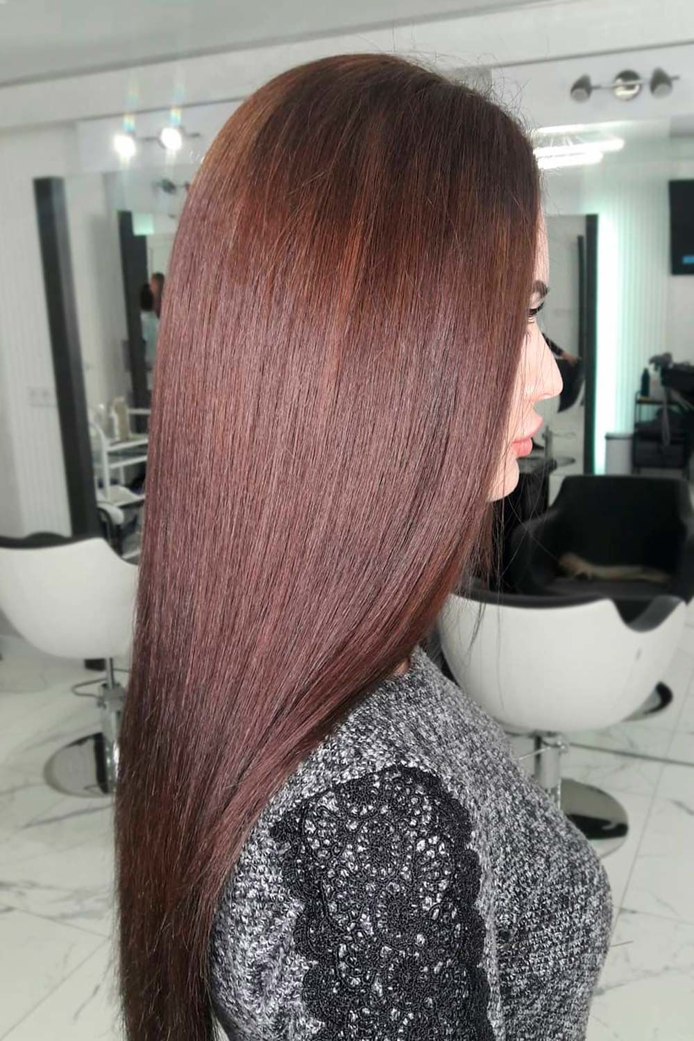 Winter Hair Color - Chocolate Brown