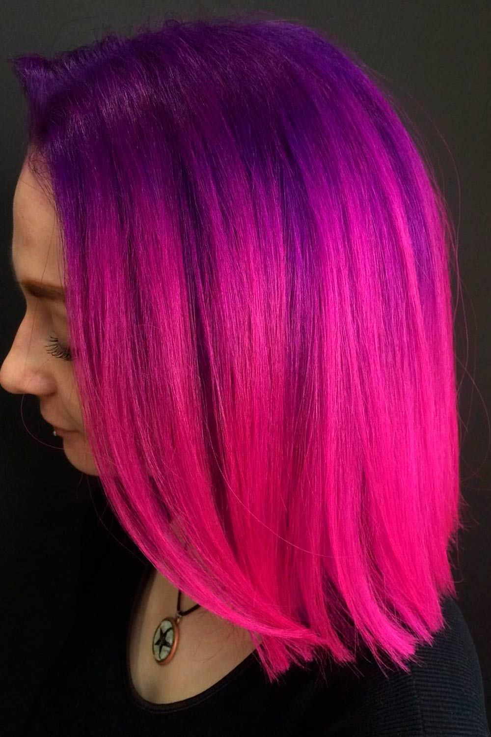 Pink-Purple Hair Ombre