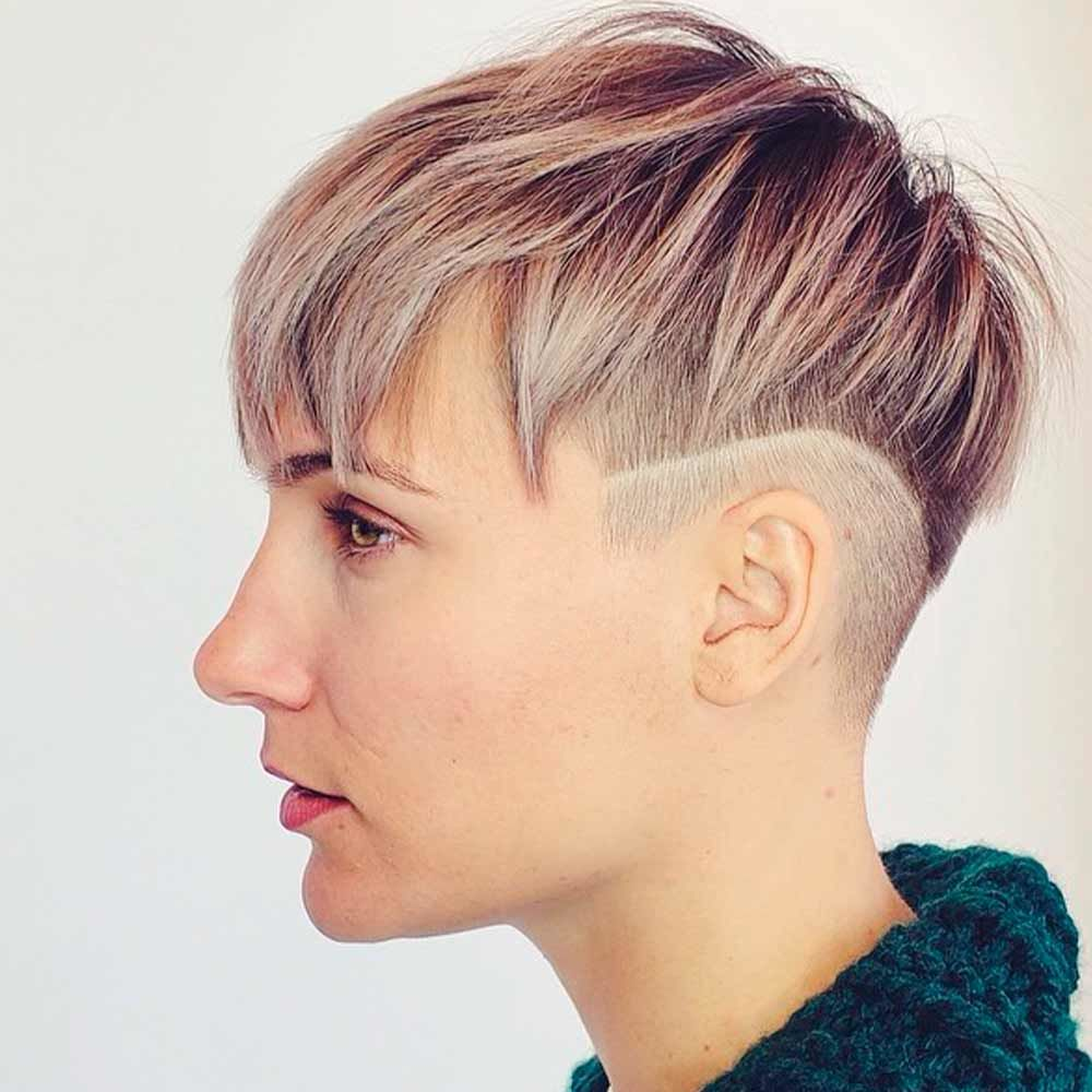 Androgynous Cut With Undercut, androgynous hair, short haircuts androgynous, androgynous women's haircuts