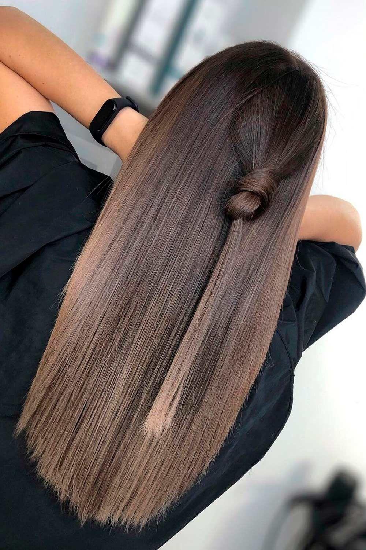 Ash Walnut, ash brown balayage hair, ash brown balayage on black hair, ash brown balayage on dark hair