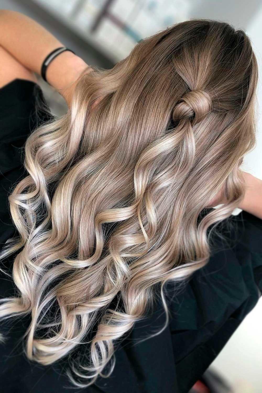 Blonde Balayage On Bold Ash Brown, ash blonde balayage on brown hair, ash brown balayage, mushroom brown hair