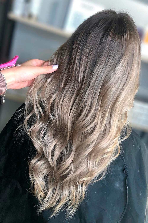Ash Brown Ombre, ash brown asian hair, hair color ash brown, ash blonde highlights on light brown hair