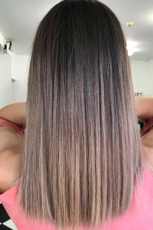 Natural Ash Brown Looks, ash brown balayage hair, ash brown balayage on black hair, ash brown short hair