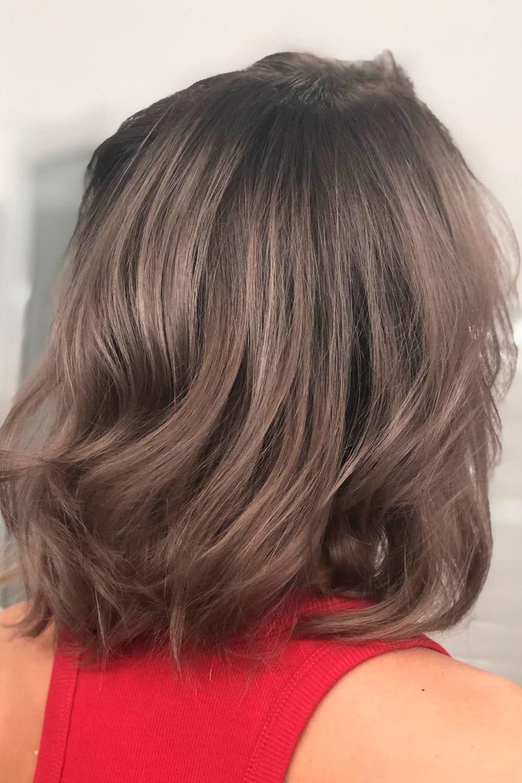 Ashy Ideas For Medium Hair Length, ash light brown hair, ash brown balayage hair, ash brown balayage on black hair