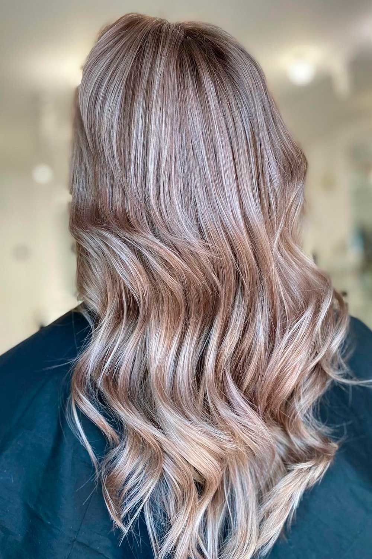 Ashy Hair With Babylights, light ash brown hair, dark ash brown hair, how to tone brown hair to ash