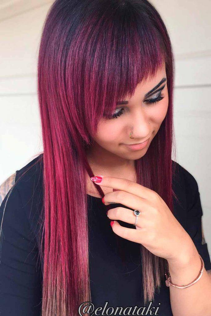 Amazing Plum Red Purple Hair, red purple hair color, dying red hair purple, dark red purple hair colors
