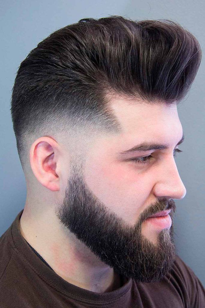 Low Fade With Styled Back Top, bald taper fade, bald temple fade, bold fade, bald low fade