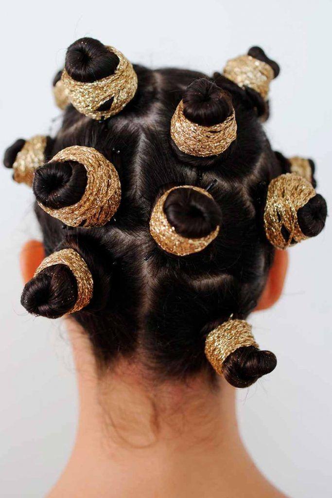 'KY Braids' Into Bantu Knots, bantu knot styles, bandu knots, hair style knots