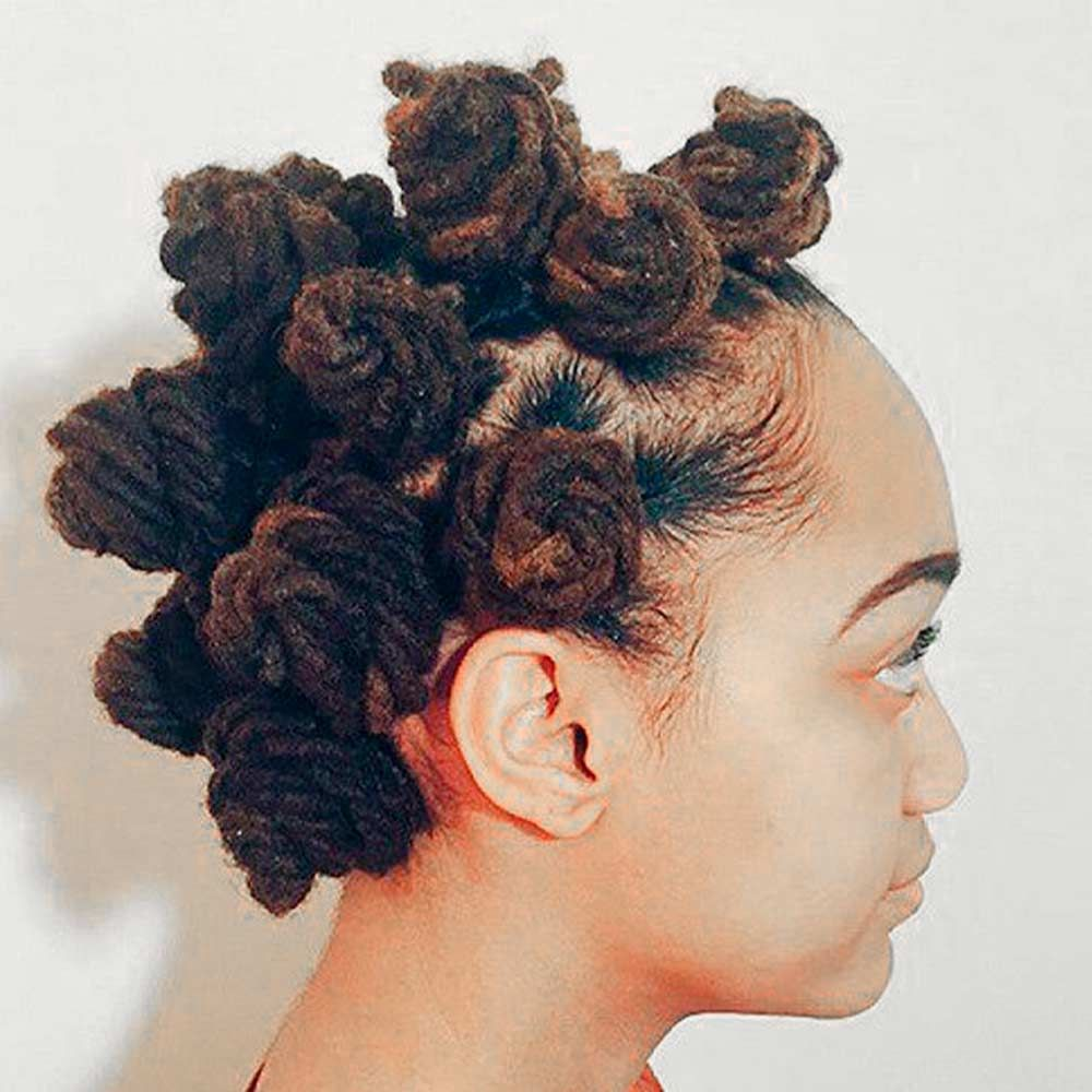 Fall Inspired, hair knots, bantu knot, hair style knots