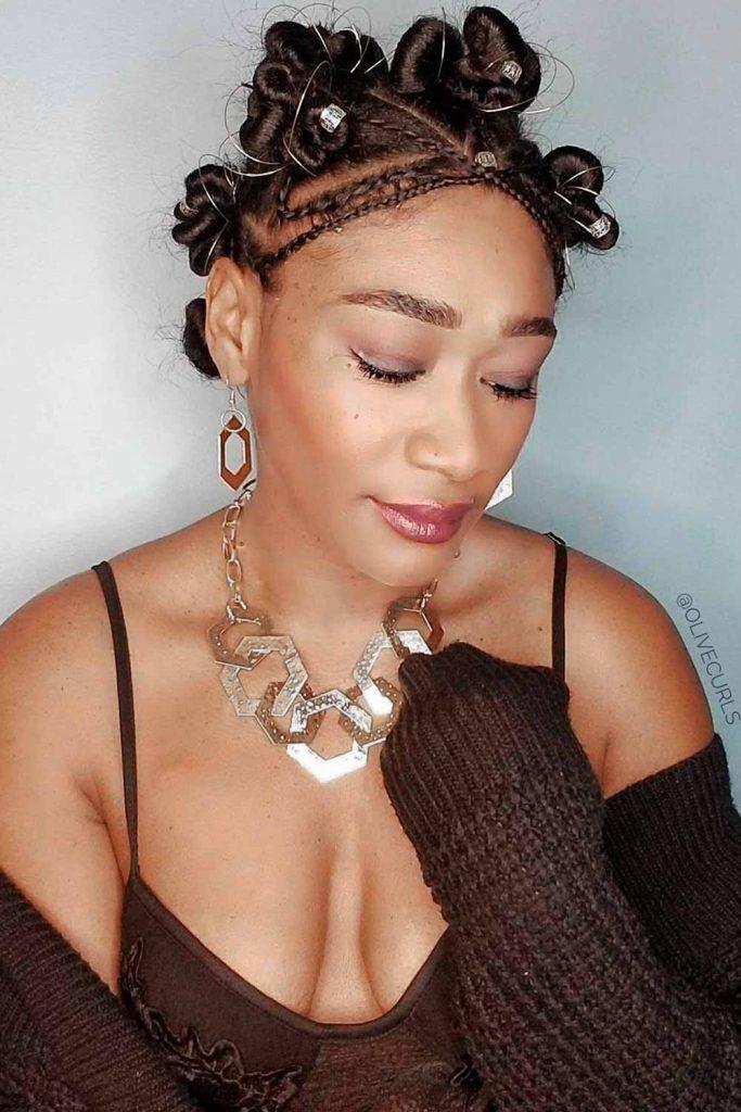 Small Braids Into Bantu Knots, bantu knot, hair knot, knots hairstyles