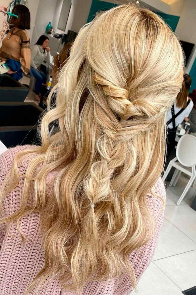 Half Up Half Down Braided Hairstyles For Long Hair, braided long hair, braided long hair, long hair braided hairstyles, braided hair long